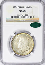 1936 Cleveland Great Lakes Exposition Half Dollar Ngc Ms-66+ Cac