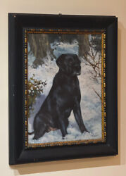 Original Oil Of A And039black Labradorand039 By Renowned Artist Joel Kirk