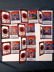 2017 Ud Spider-man Homecoming Booklet Set All 10 Autograph Michael Keaton