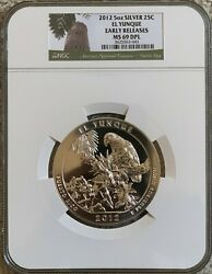 2012 5oz Silver El Yunque America The Beautiful Atb Ngc Ms69 Dpl Early Releases
