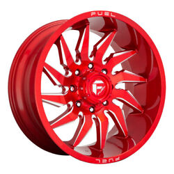 Fuel D745 Saber Rim 20x10 6x139.7 Offset -18 Candy Red Milled Quantity Of 4