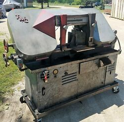 Pmc 12 X 16 Horizontal Bandsaw W/coolant Tray - Portable Frame On Castors