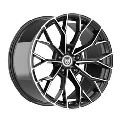 4 Hp 20 Inch Black Machined Rims Fits Chevy City Express 2015-2020