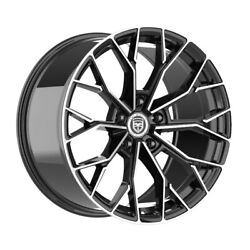 4 Hp 20 Inch Black Machined Rims Fits Nissan Rogue Select S 14-15