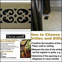 Decor Grates Scroll Plated Register