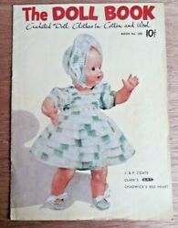 Vintage 1951 Jandp Coats/clark The Doll Book Crochet Doll Clothes Pattern Book