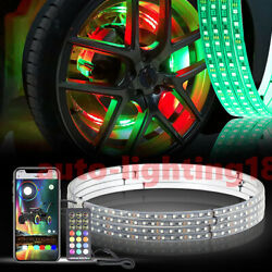 2021 New Dream Chasing Color 4x Auto 17 Led Wheel Ring Rim Tire Lights For Cars