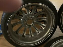 Four 24' Car Tires And Rims