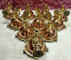 Vintage Nautical Cargo Pendant Ceiling Light Made Of Brass And Copper 10 Piece
