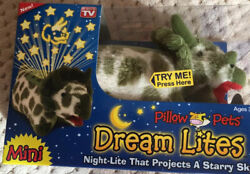 Green Tricerstops. Dream Lites . Mini. Pillow Pets. New In Box.
