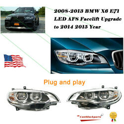 For Bmw X6 E71 2008-2013 Headlights Assembly Lens Upgrade Projector Led Drl L+r