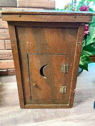 Vintage Wooden Swinging Door Double Header Outhouse 9 1/2andnbsp With Sears Catalogandnbsp