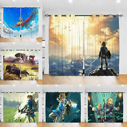 The Legend Of Zelda Thermal Blackout Curtain Pairs Ready Made Room Curtain Panel