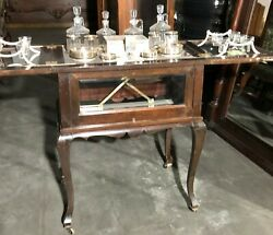Antique Pop - Up Bar Set With Glasses And Decanter