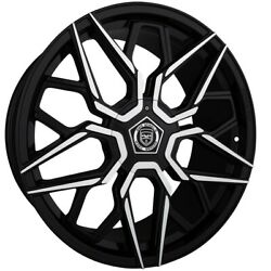 4 G46 20 Inch Black Rims Et20 Fits Lincoln Continental 2000 - 2002