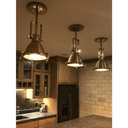 Nautical Ceiling Mount Pendant Spot Light Vintage Style Brass And Copper 3 Piece