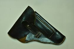 Ww2 Wwii Walther Pp Or Cz 27 Officerand039s Pistol Gun Leather Holster Vintage German