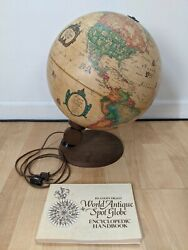 1980 12 Lamp Antique Spot Globe Denmark Readers Digest With Book