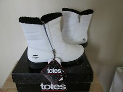 Totes Women#x27;s Babbie White Winter Waterproof Boots Size 9M $29.99