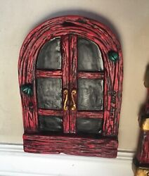 2 Large Garden Gnome Fairy Windows To Go With Large Door.