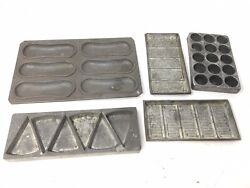 Lot Of 5 Antique Vintage Chocolate Candy Molds Hungary Monos Flat Molds Mould