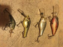 4 Realistic Looking Fishing Lures Natural Ike Young Classic Vintage Bassandnbsp