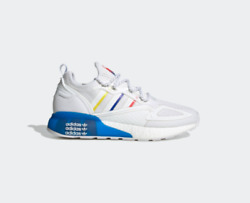 New Adidas Zx 2k Boost Shoes Sneakers Fy1375 - White/ Multi Color
