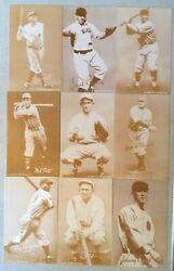 41 Year Old Exhibit Reprints Of Baseball Hall Of Fame Players 30and039s-50and039s