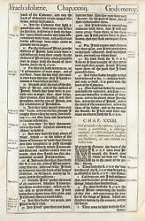1611 King James Bible Leaf - Jer. 32 - I Will Give Them One Heart, And One Way..