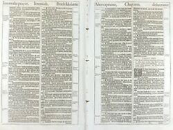 1611 King James Bible Leaf 1613 Ed Jer 32 I Will Give Them One Heart And One Way
