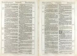 1611 King James Bible Leaf I Will Give Them One Heart And One Way Jer 32 1613 Ed