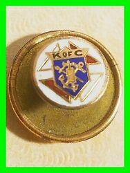 Early Knights Of Columbus Enamel Logo Lapel Pin Excellent Condition