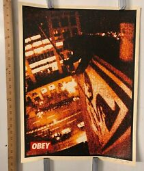 Shepard Fairey Print Obey Toyko Roof 18 X 24 144/200 Signed And Numbered 2001