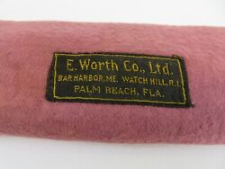 E. Worth And Co Of Palm Beach Anti Tarnish Mohair Storage Pouch Bag 11 1/2 X 10