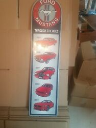 Ford Mustang Through The Ages Sign