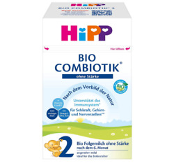12 X Hipp Combiotik Stage 2 Without Starch Baby Formula 12x600g