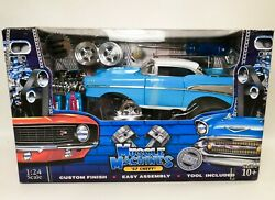Funline Muscle Machines Aqua/turquoise 1957 Chevy Build-it 124 Scale - Nib
