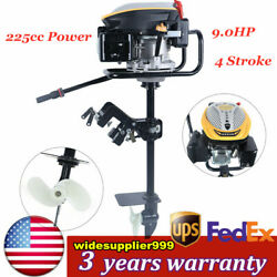 4 Stroke 9.0hp Outboard Motor Fishing Boat Engine Air Cooling System 225cc Usa
