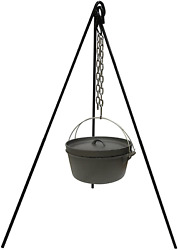 Cast Iron Camping Tripod Pot Outdoor Campfire Cooking Picnic Fire Oven Grill New
