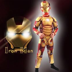 New Halloween Movie hero Iron Costume for kids mask War Infinity Kids Boys Girls