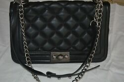 Steve Madden Black Crossbody Shoulder Bag Quilted USED $22.00