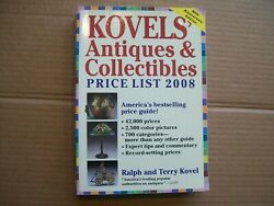 Kovelsand039 Antiques And Collectibles 40th Anniversary Ed. Price List 2008 Softcover