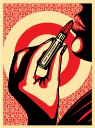 Shepard Fairey, Signed, Kiss Me Deadly, Unframed, Mint Condition. Obey Banksy