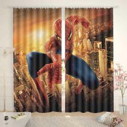 Spiderman Fist Changes 3d Curtain Blockout Photo Printing Curtains Drape Fabric