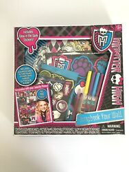Mattel Monster High Scrapbook Your Wall Picture Frames Glow Stickers And More Kids