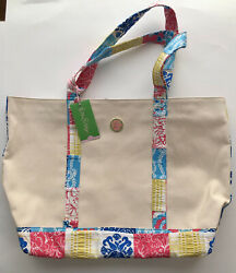 Lily Pulitzer Large Canvas Beach Tote with Tag $25.00