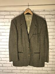 Yves Saint Laurent Ysl Moss Army Green Blazer Wool And Cashmere Mix It 54 Uk 44