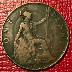 BETTER GRADE 1912 H BRITAIN ENGLISH LARGE PENNY OCT274