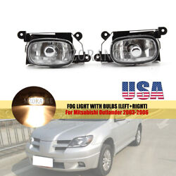 Front Fog Light Driving Lamp For Mitsubishi Outlander 2003-2005 2006 Replacement