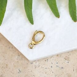 18k Yellow Gold Enhancer Bail For Pendant Charms Assembly Clasp New